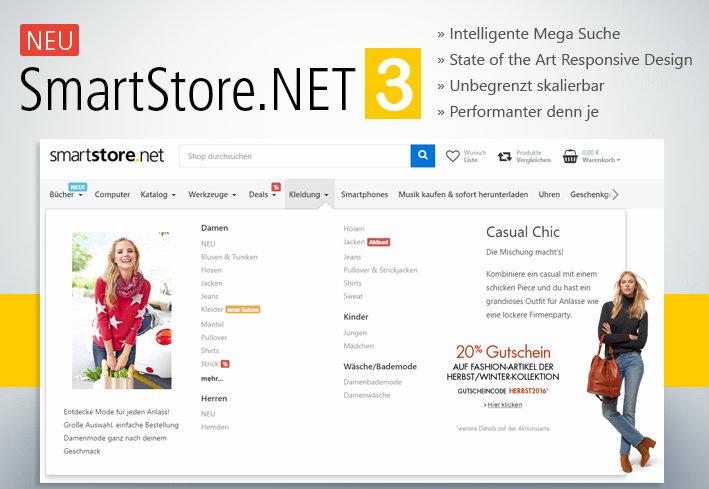 SmartStore.NET 3 - fantastische Features, die Sie garantiert on Top bringen!